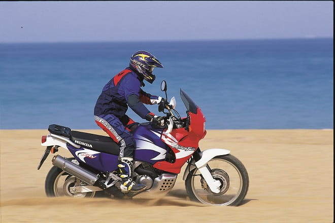 Honda's XRV750 Africa Twin. It went off sale in 2003.