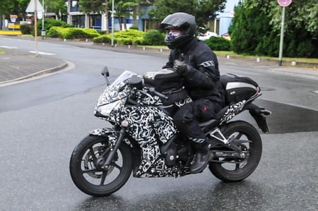 Thumbs up from the Honda CBR300R test rider
