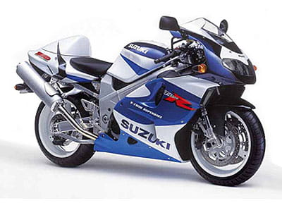 Full side view of the Suzuki TL1000R in blue