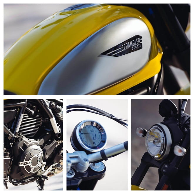 Ducati Scrambler has detailling that defies its price. A lovely thing indeed.