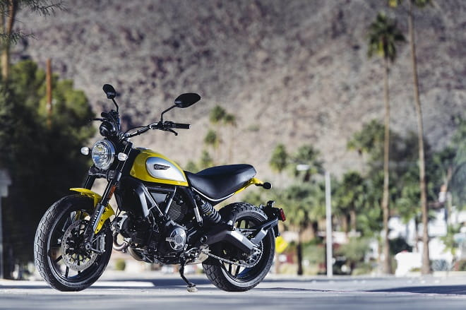 Palm Springs or Peterborough. The Ducati Scrambler is a cool-looking bike wherever it's parked.