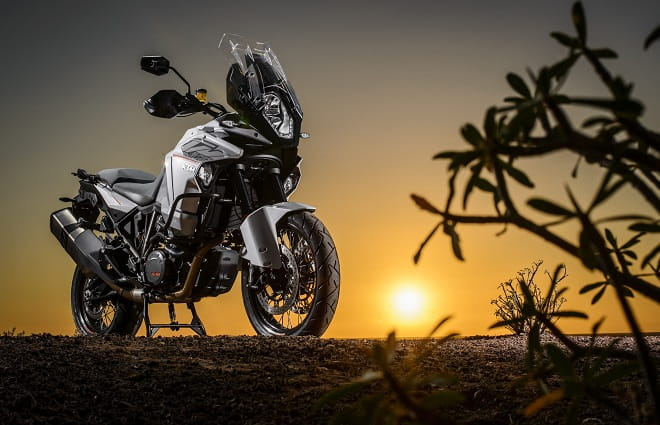 The sun sets over KTM's Super Adventure, and what a day its been riding. Insert every road test cliche in here.