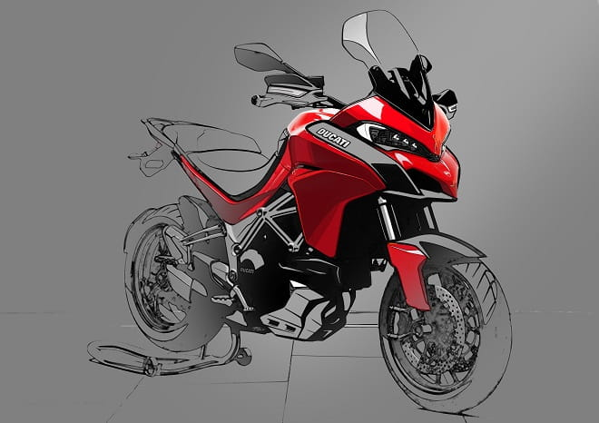 CAD design sketches of the Multistrada show what Ducati had in mind.