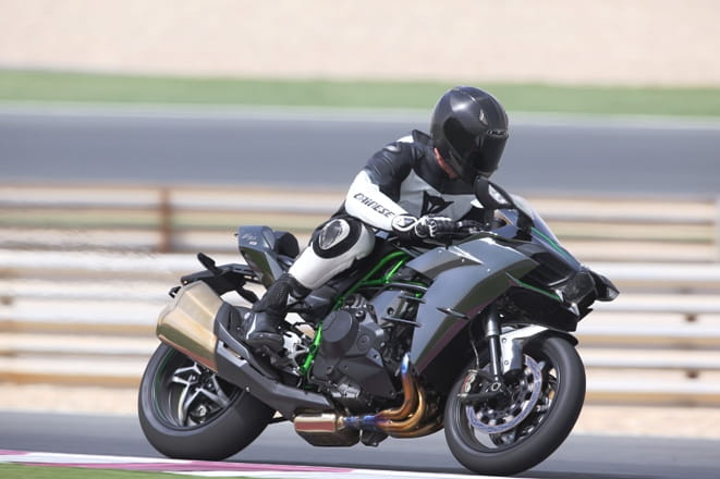 Street legal Ninja H2 stretches its legs at the press launch in Qatar