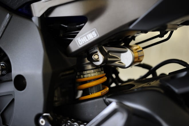 Ohlins rear shock transforms the ride of the R1 when on the limit. Or even just riding it fast.