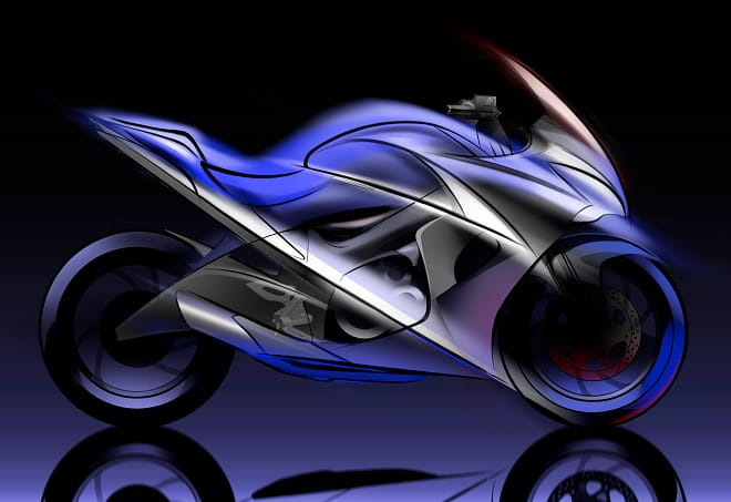 Suzuki's styling sketches show their Crouching Best concept.