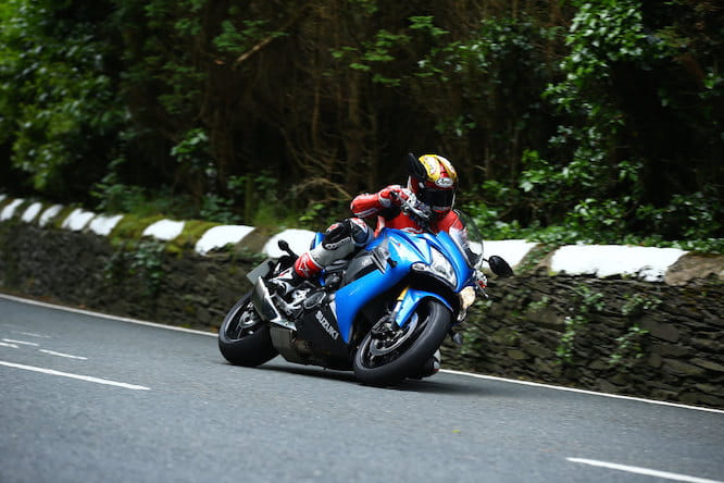 Testing the GSX-S1000F at the European press launch