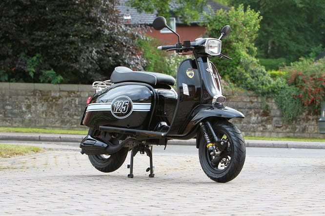 Priced at a rather random £2571 and looks remarkably like a Lambretta at first glance