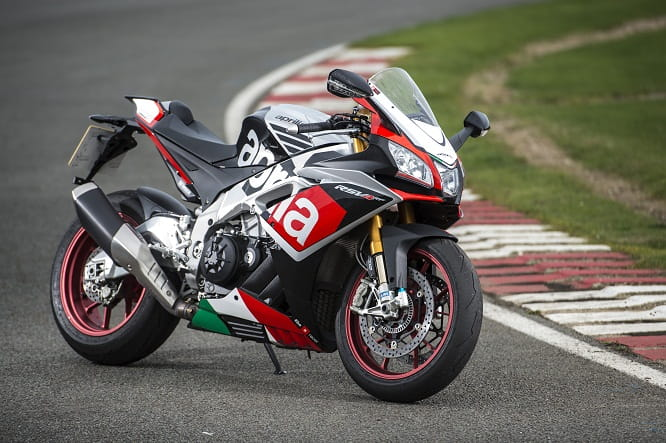 At home on the track, the RSV4-RF lives for apexes