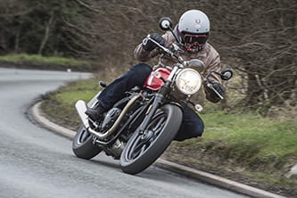 Marc Potter on the Triumph Street Twin