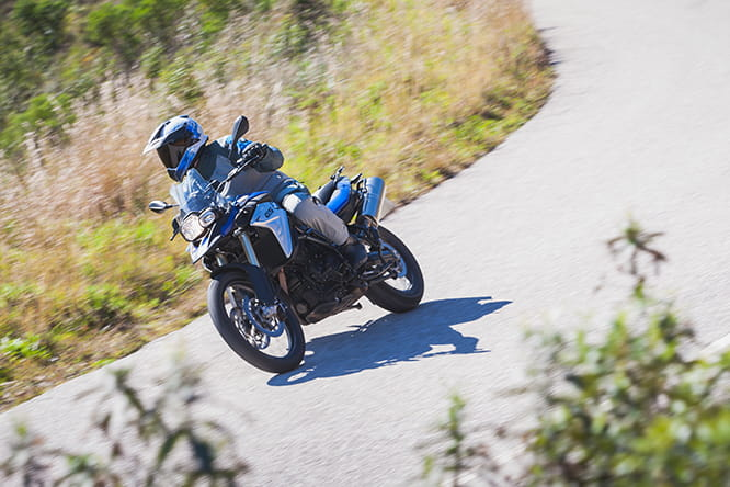 Even with its 21' front and 17' rear, the F800GS can still hustle on the roads