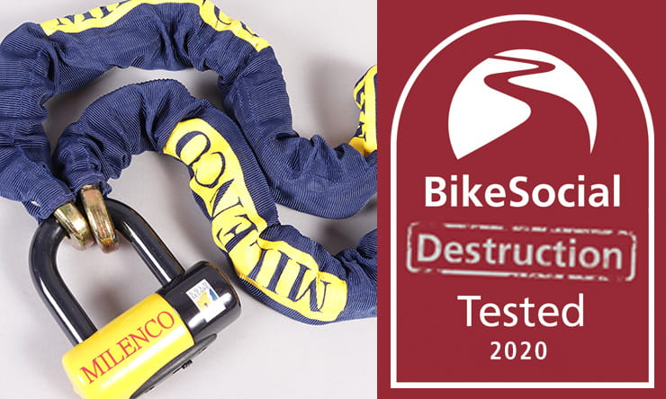 Bicycle Lock Chain Lock 1,20 M with textile coat and U-Lock
